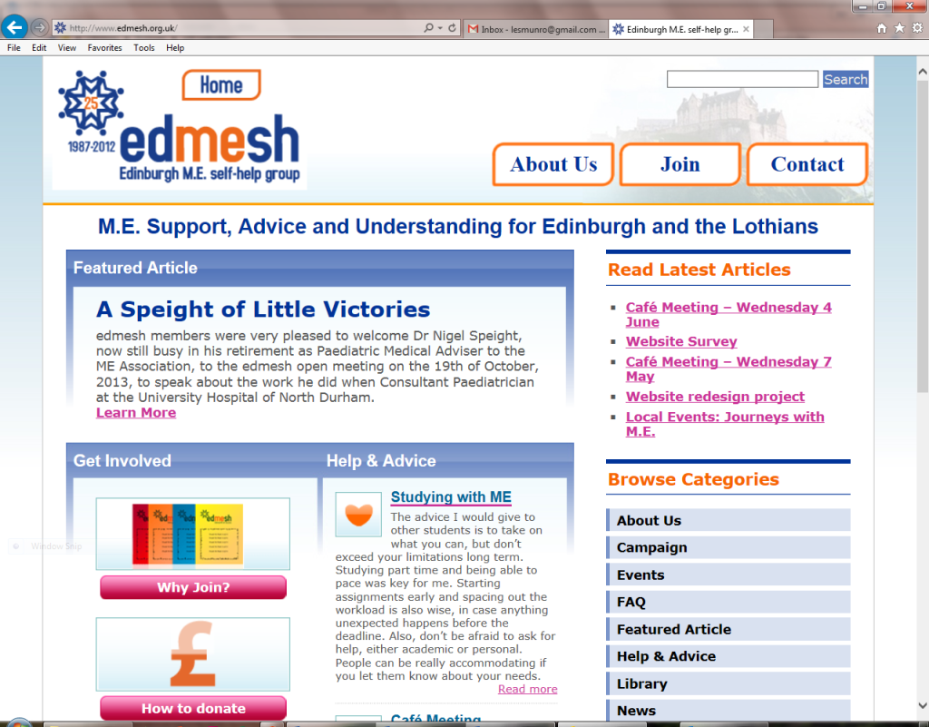 edmesh old homepage