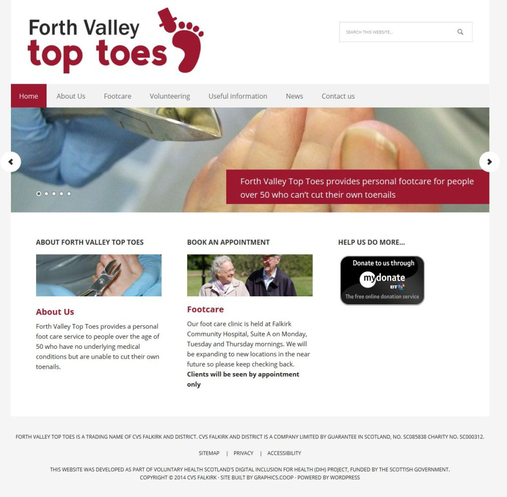forth valley top toes new homepage